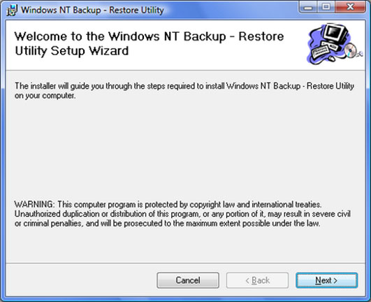 Windows NT Backup